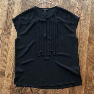 Jcrew ribbon fringe blouse
